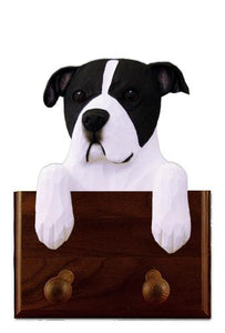 American Staffordshire Terrier (Natural) Leash Holder