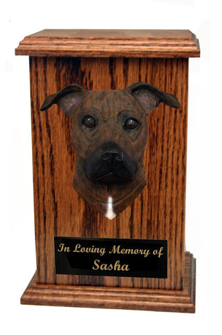 American Staffordshire Terrier (Natural) Memorial Urn
