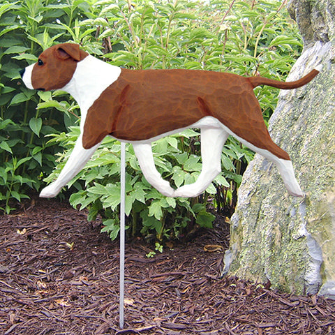American Staffordshire Terrier (Natural) Garden Stake