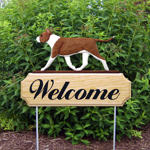American Staffordshire Terrier DIG Welcome Stake - Michael Park, Woodcarver