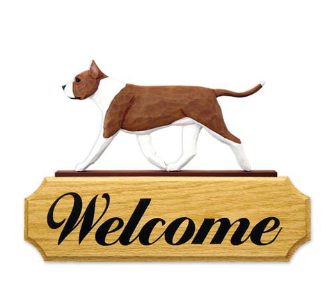 American Staffordshire Terrier DIG Welcome Sign
