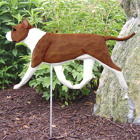 American Staffordshire Terrier Garden Stake - Michael Park, Woodcarver