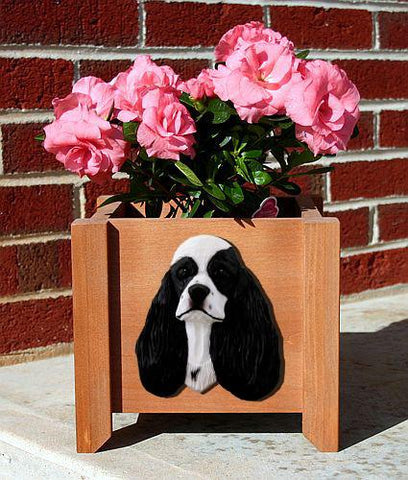 Cocker Spaniel Planter Box - Michael Park, Woodcarver