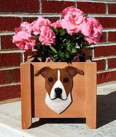 American Staffordshire Terrier (Natural) Planter Box - Michael Park, Woodcarver