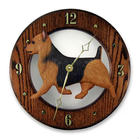 Australian Terrier Wall Clock - Michael Park, Woodcarver