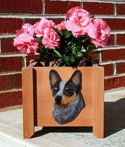 Australian Cattle Dog Planter Box - Michael Park, Woodcarver