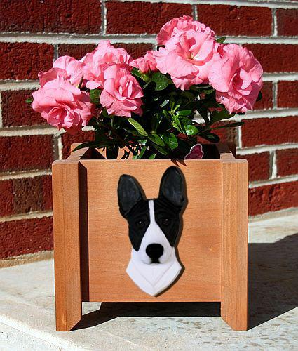 Basenji Planter Box - Michael Park, Woodcarver