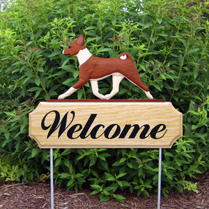 Basenji DIG Welcome Stake - Michael Park, Woodcarver