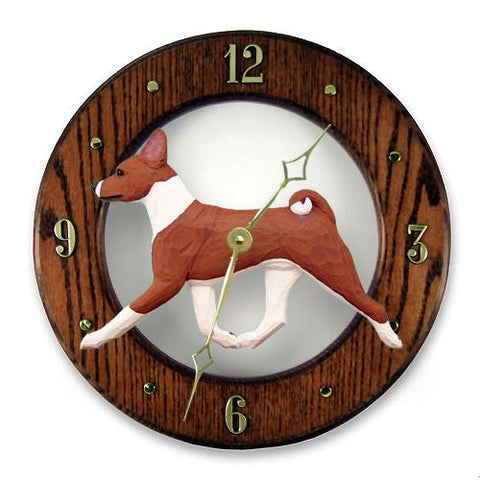 Basenji Wall Clock - Michael Park, Woodcarver
