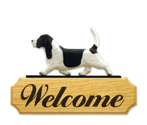 Basset Hound DIG Welcome Sign