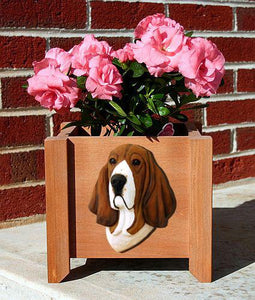 Basset Hound Planter Box - Michael Park, Woodcarver