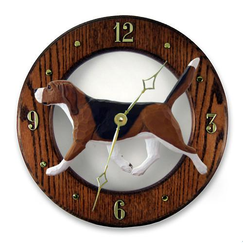 Beagle Wall Clock - Michael Park, Woodcarver