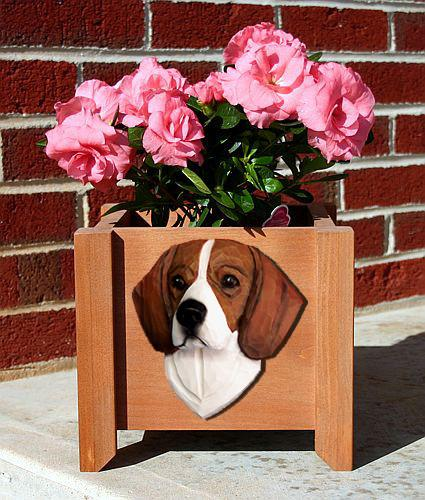 Beagle Planter Box - Michael Park, Woodcarver