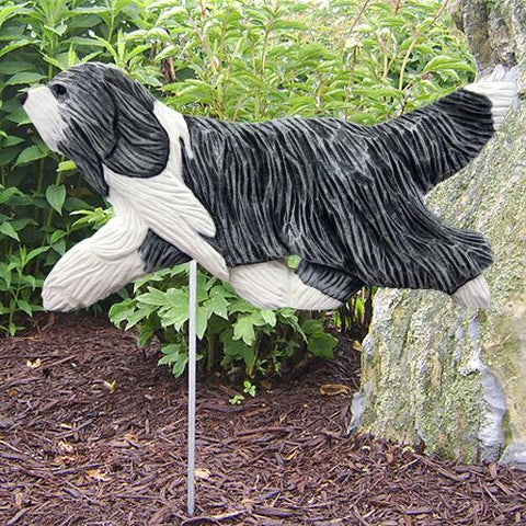 Bearded Collie Garden Stake - Michael Park, Woodcarver