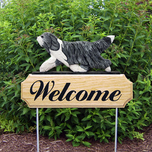 Bearded Collie DIG Welcome Stake - Michael Park, Woodcarver