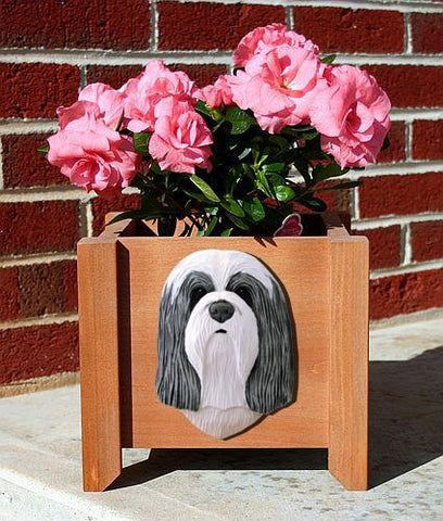 Bearded Collie Planter Box - Michael Park, Woodcarver
