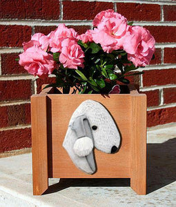 Bedlington Terrier Planter Box - Michael Park, Woodcarver