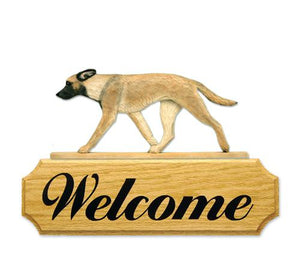 Belgian Malinois DIG Welcome Sign