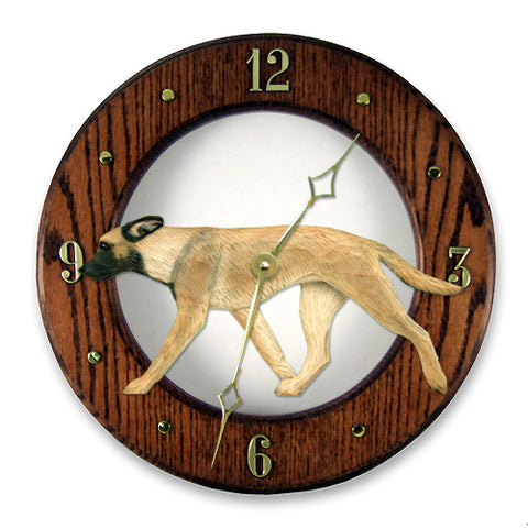 Belgian Malinois Wall Clock - Michael Park, Woodcarver