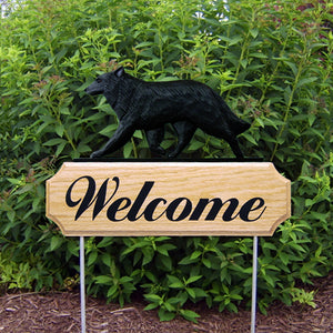 Belgian Sheepdog DIG Welcome Stake - Michael Park, Woodcarver