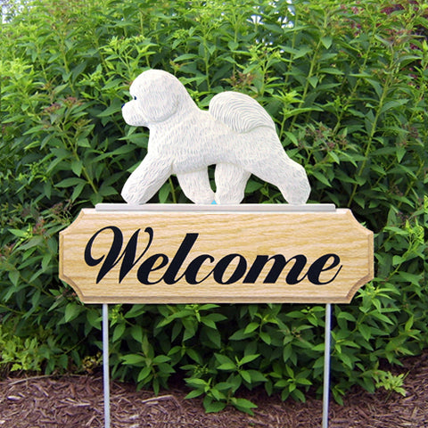 Bichon Frise DIG Welcome Stake - Michael Park, Woodcarver