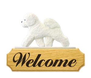 Bichon Frise DIG Welcome Sign