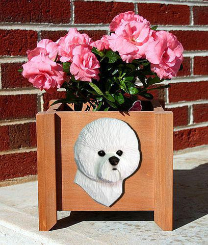 Bichon Frise Planter Box - Michael Park, Woodcarver