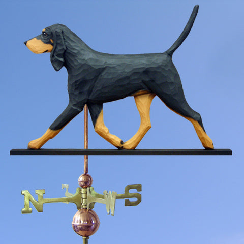 Black & Tan Coonhound Weathervane - Michael Park, Woodcarver
