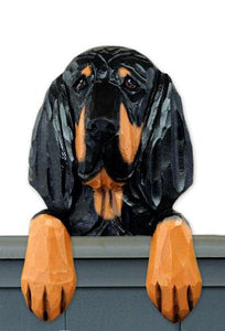 Black & Tan Coonhound Door Topper
