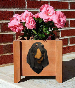 Bloodhound Planter Box - Michael Park, Woodcarver