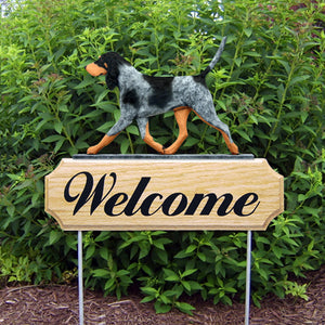 Bluetick Coonhound DIG Welcome Stake - Michael Park, Woodcarver