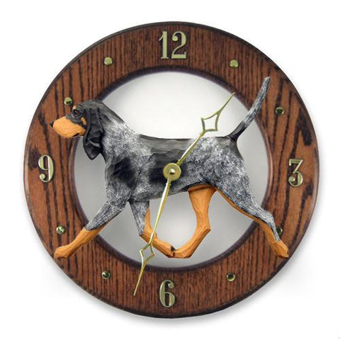 Bluetick Coonhound Wall Clock - Michael Park, Woodcarver