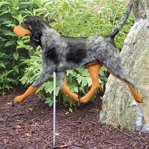 Bluetick Coonhound Garden Stake - Michael Park, Woodcarver