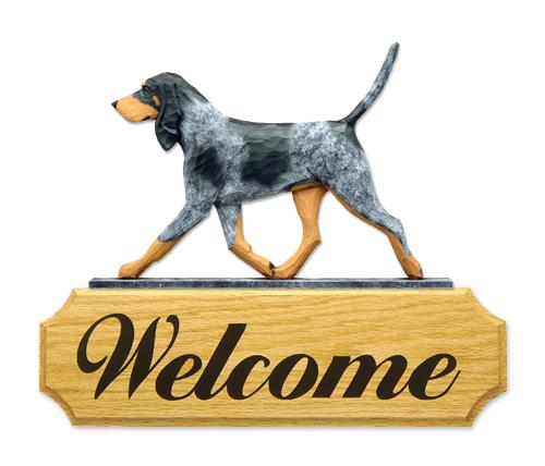 Bluetick Coonhound DIG Welcome Sign