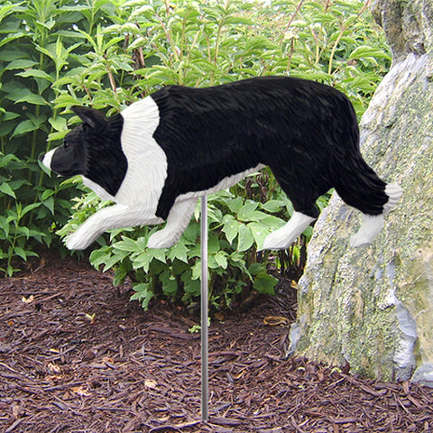 Border Collie Garden Stake