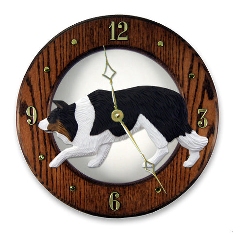 Border Collie Wall Clock - Michael Park, Woodcarver