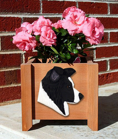 Border Collie Planter Box - Michael Park, Woodcarver