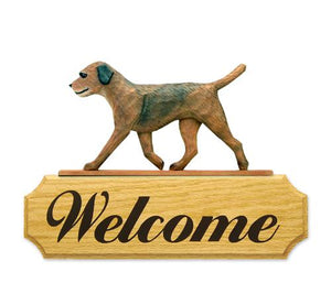 Border Terrier DiG Welcome Sign