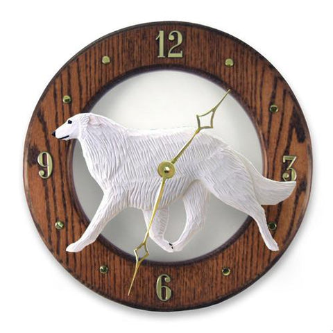 Borzoi Wall Clock - Michael Park, Woodcarver