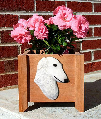 Borzoi Planter Box - Michael Park, Woodcarver
