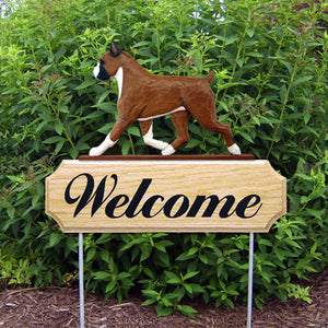Boxer DIG Welcome Stake - Michael Park, Woodcarver