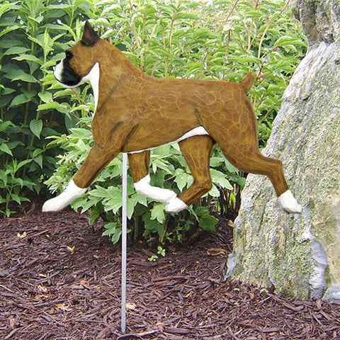 Boxer Garden Stake - Michael Park, Woodcarver