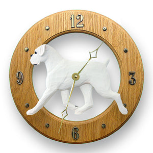 Boxer (Natural) Dog Wall Clock - Michael Park, Woodcarver