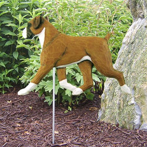 Boxer (Natural) Garden Stake - Michael Park, Woodcarver