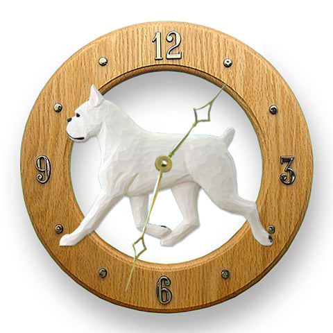 Boxer Dog Wall Clock - Michael Park, Woodcarver