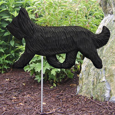 Briard Garden Stake - Michael Park, Woodcarver
