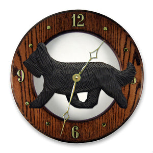 Briard Wall Clock - Michael Park, Woodcarver
