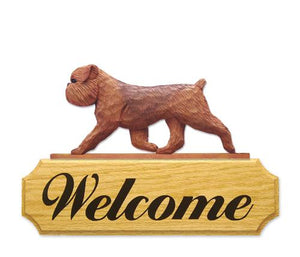 Brussels Griffon (Natural) DIG Welcome Sign