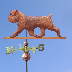 Brussels Griffon (Natural) Weathervane - Michael Park, Woodcarver