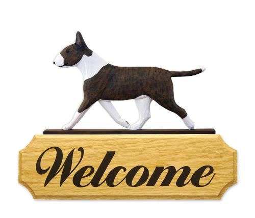 Bull Terrier DIG Welcome Sign